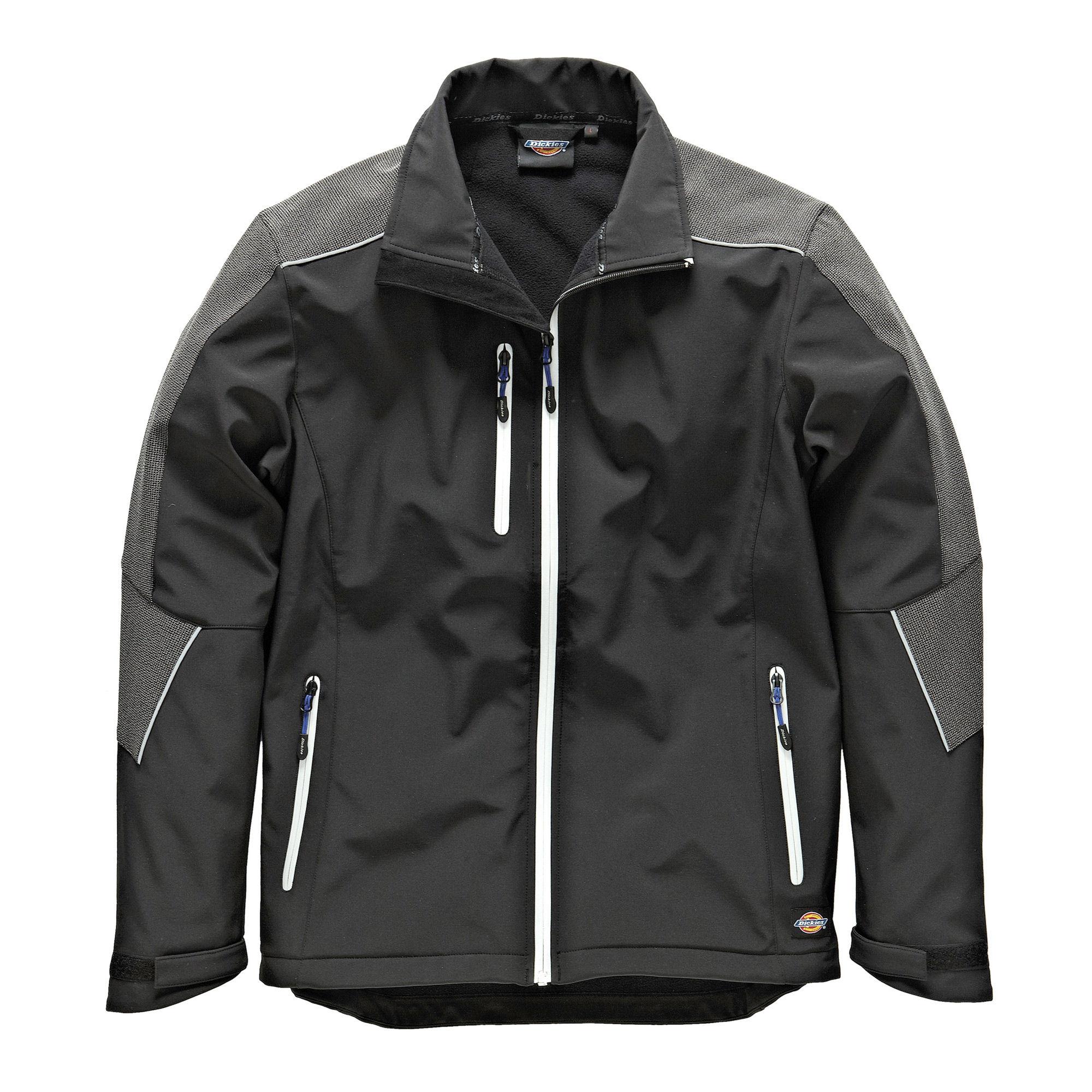 Dickies JW7009 Glenwood Waterproof Breathable Softshell Jacket in Black - Size XXL