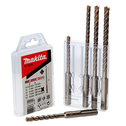 Makita B-16938 Nemesis SDS-plus Drill Bit Set of 5