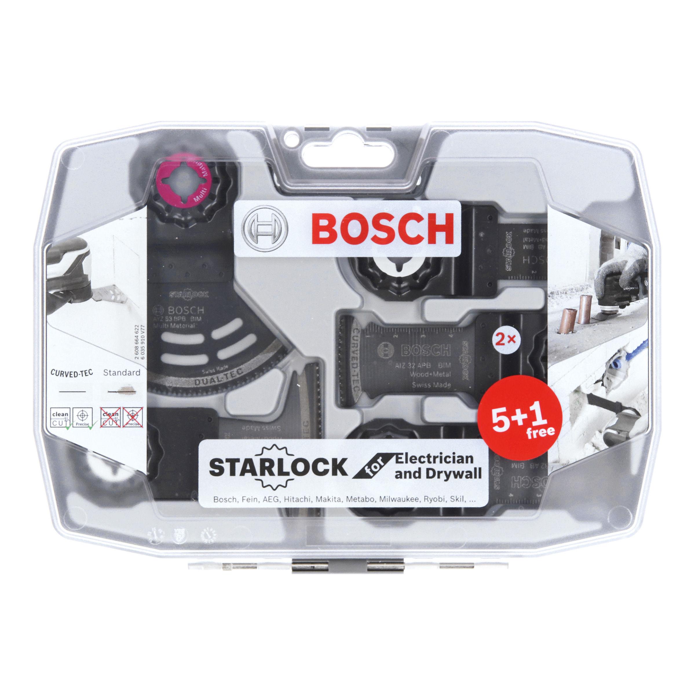 Bosch 2608664622 Starlock Electrician & Drywall Multi-Tool Blade Set (6  Piece)