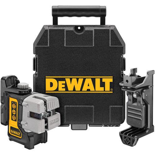 Dewalt DW089K 3 Way Self-Levelling Ultra Bright Multi Line Laser (Horizontal, Vertical and Side Lines)
