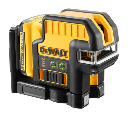 Dewalt DCE0825D1G 10.8V 5 Spot Cross Line Green Laser (1 x 2.0Ah Battery)