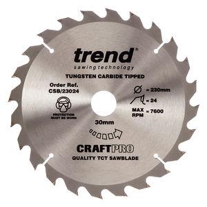 Trend CSB/23024 CraftPro Saw Blade 230mm x 24 Teeth x 30mm
