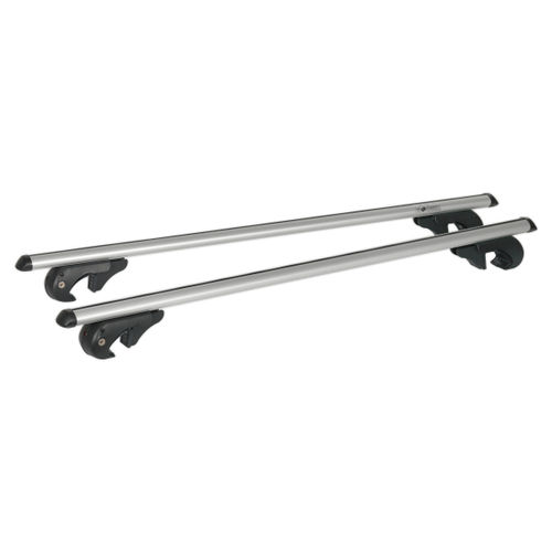 Sealey ARB120 Aluminium Roof Bars 1200mm For Traditional Roof Rails 90kg Max Load