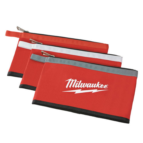 Milwaukee 48228193 Colour Zippered Pouch (3 Pack)