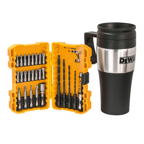 Dewalt DT71580 Drill & Screwdriver Bit Set with Thermal Mug (26 Piece)