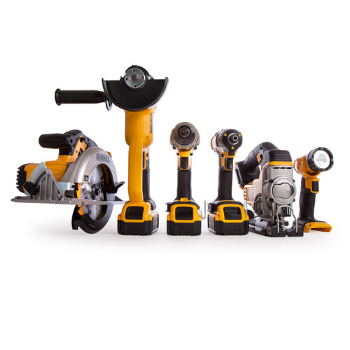 Dewalt DCK694P3 18V Brushless 6 Piece Kit (3 x 5Ah batteries), Charger & 2 x DS300 Kitboxes