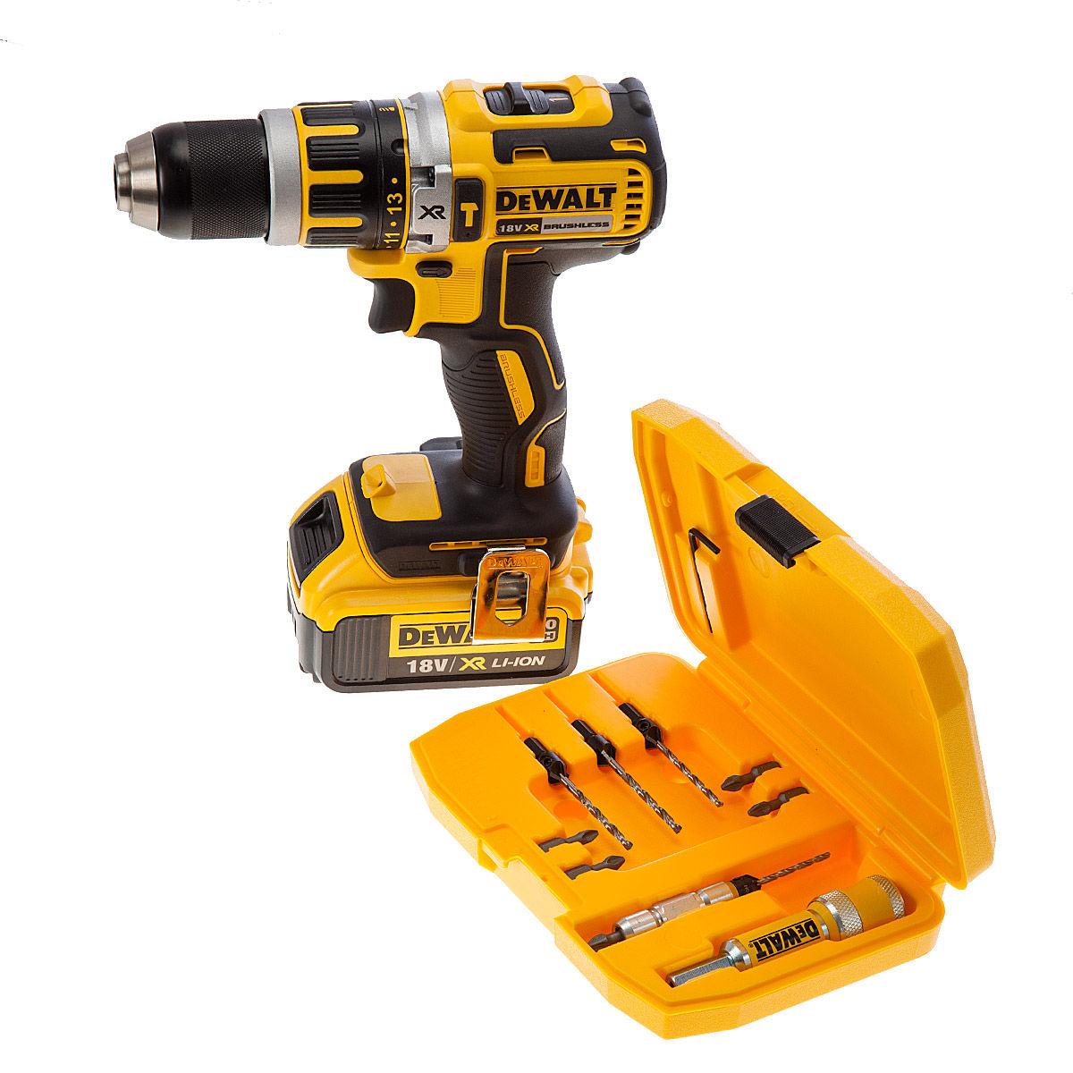 toolstop dewalt dcd795m1 combi drill 18v 1 x 4ah battery dt7612 quick change drill drive. Black Bedroom Furniture Sets. Home Design Ideas