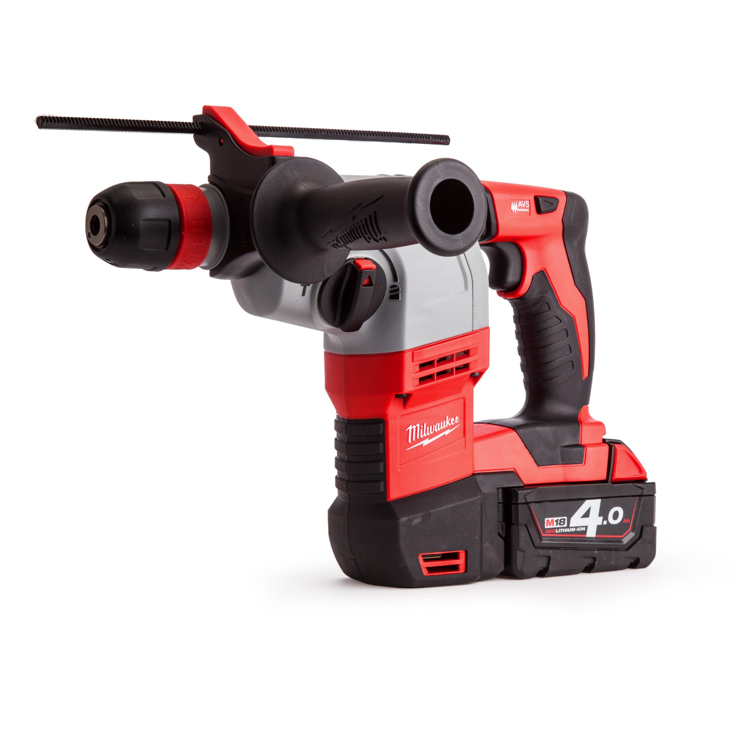 Milwaukee HD18HX-402C 18v Rotary Hammer Drill (2x4 0ah batteries)
