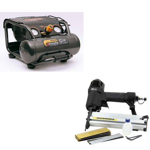 SIP 06254TS1 OL197/10RC Pro-Tech Compressor & 06771 Nailer/Stapler