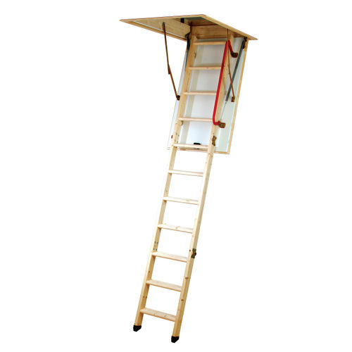 Youngman 345350 Eco 'S' Line 3 Section Timber Folding Loft Ladder
