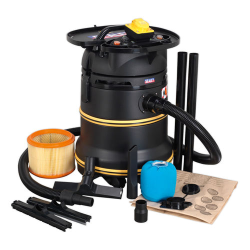 Sealey PC35110V Wet & Dry Vacuum 35ltr 1200W M Class 110V