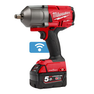 Milwaukee M18ONEFHIWF12-502X FUEL ONE-KEY Impact Wrench 1/2 Inch Drive with Friction Ring (2 x 5.0Ah Batteries)