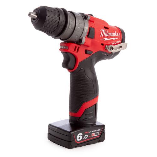 Milwaukee M12 FPDXKIT-602X 12V Fuel Percussion Drill + Chuck (2 x 6.0Ah Batteries)