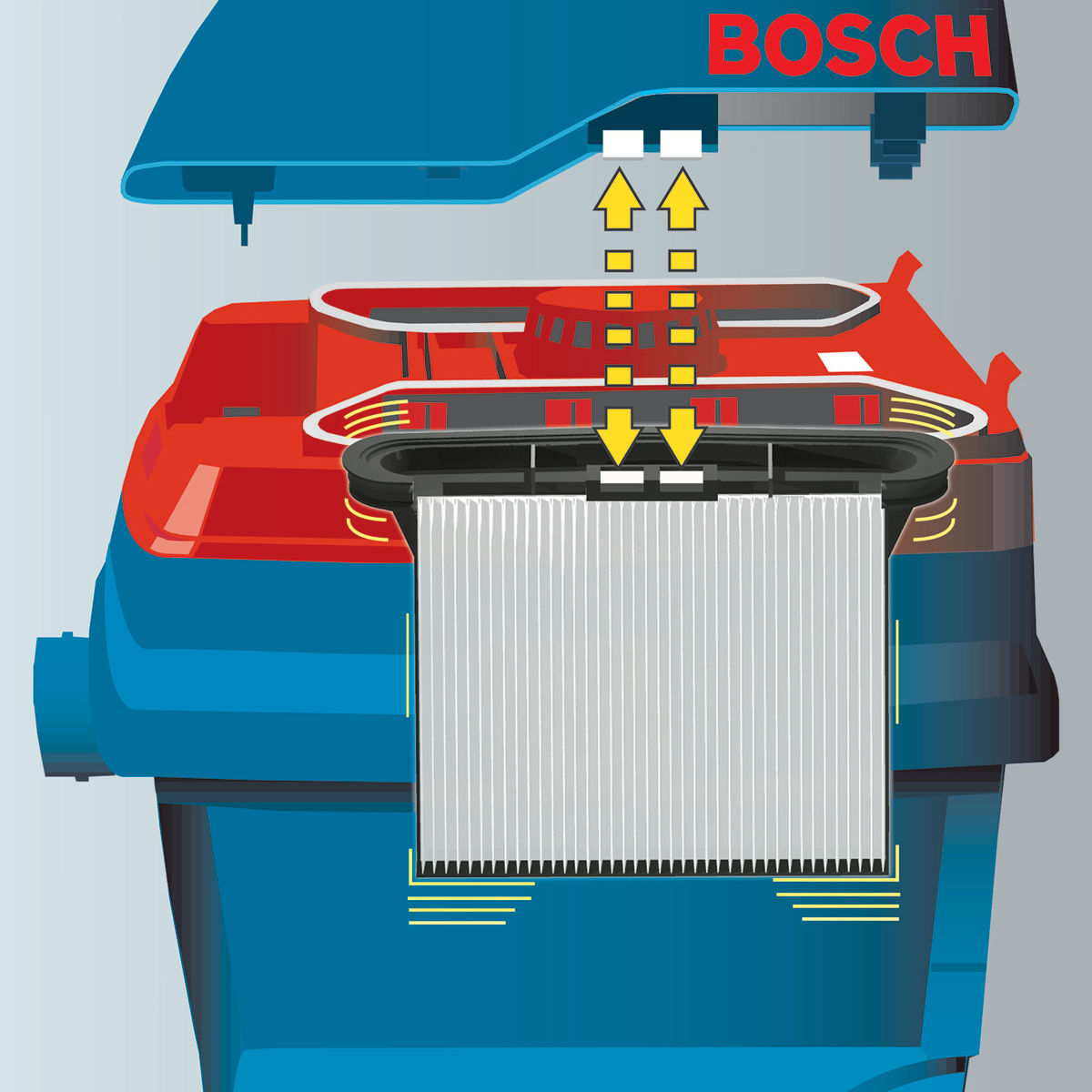 Toolstop Bosch Gas25 L Sfc All Purpose Vacuum Cleaner