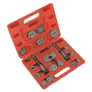 Sealey VS0282 Brake Piston Wind-back Tool Kit (18 Piece)