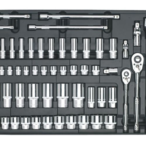 "Sealey TBT31 Tool Tray With Socket Set 55pc 3/8"" & 1/2""sq Drive"