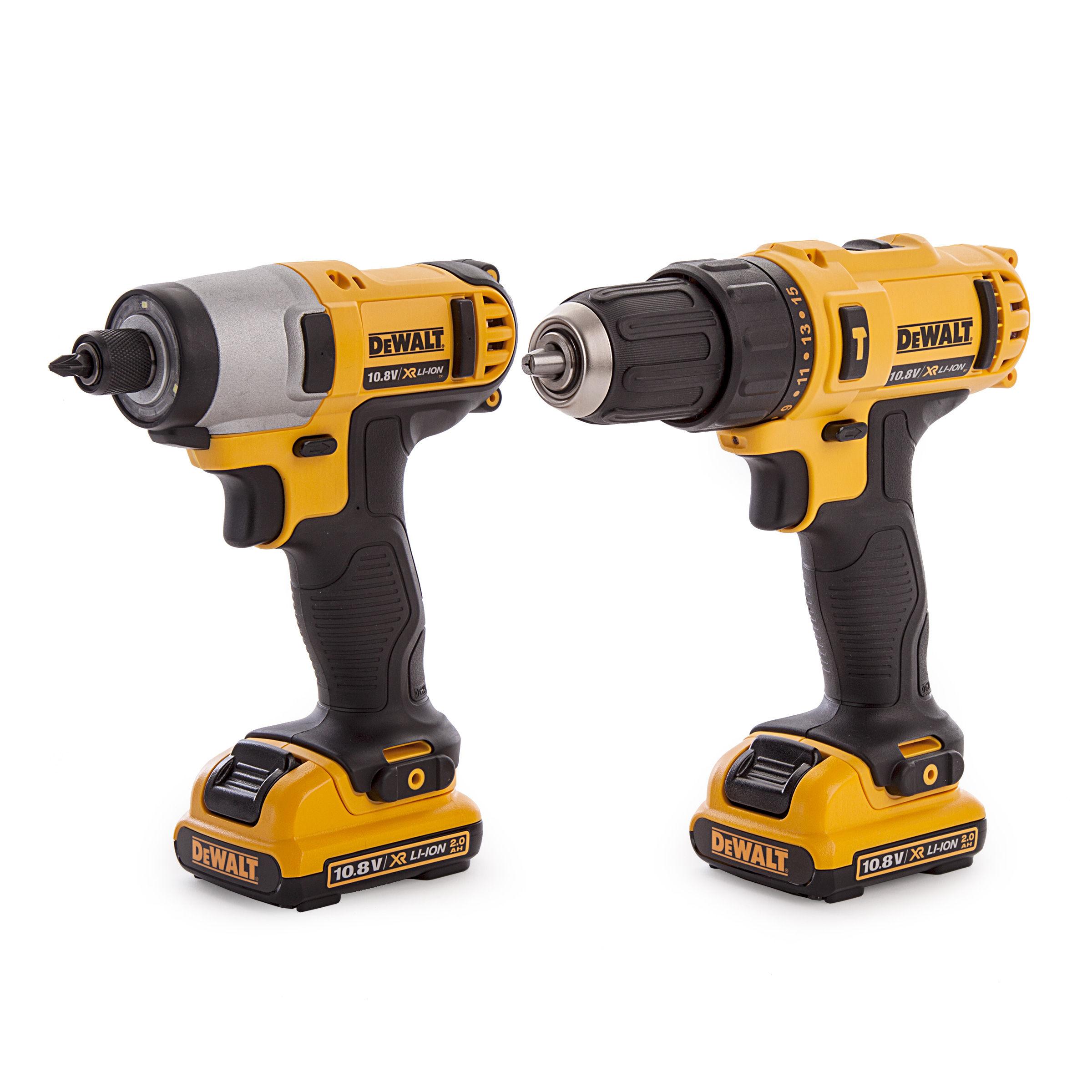 Dewalt Dck218d2t 10 8v Li Ion Xr Cordless Combi Drill And Impact Driver Twinpack