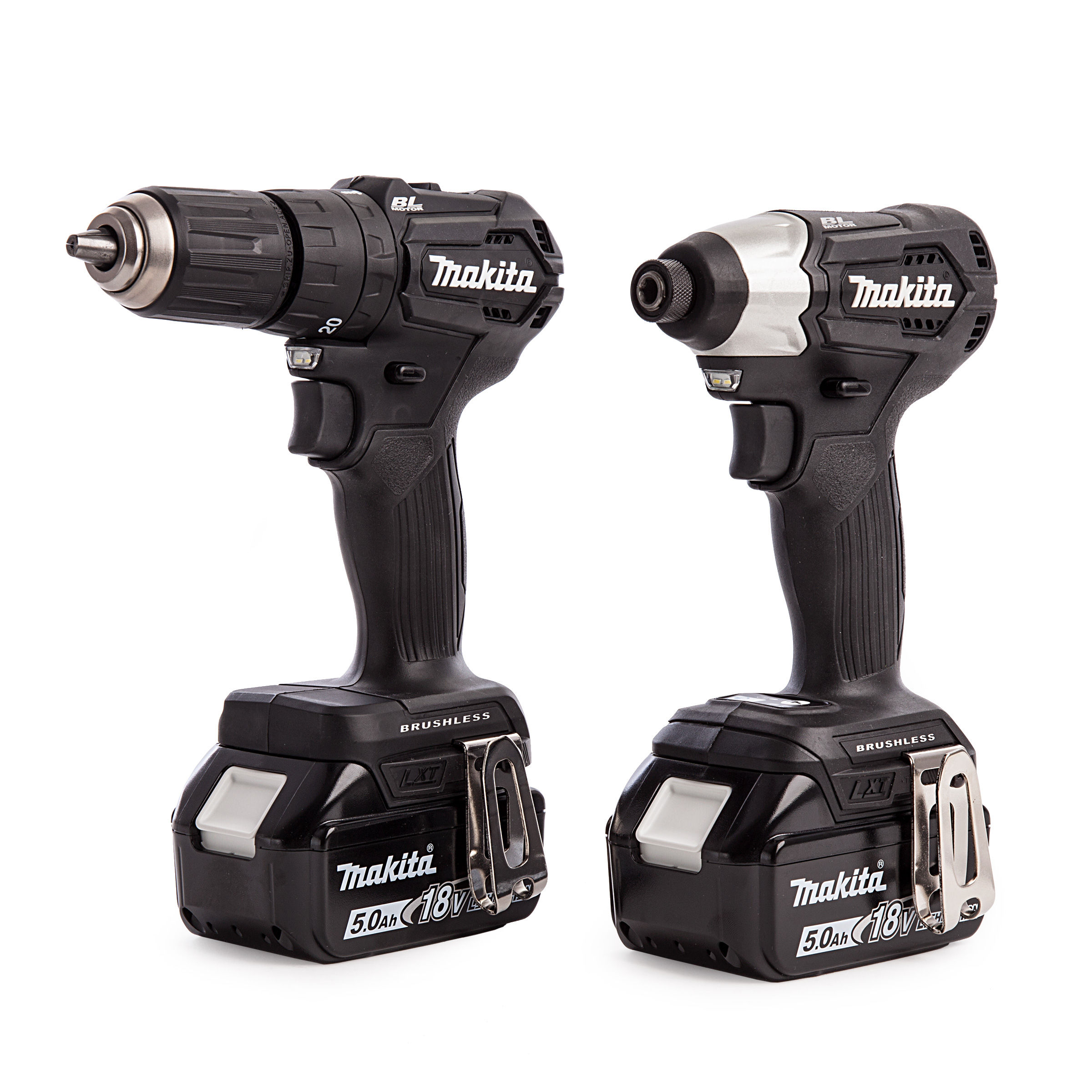 Makita DLX2221BT2 18V DTD155 Impact Driver and DHP483 Combi Drill Twinpack  (2 x 5 0Ah Batteries)