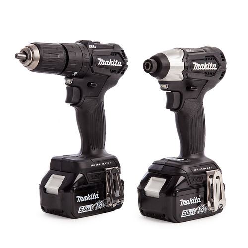 Makita DLX2221BT2 18V DTD155 Impact Driver and DHP483 Combi Drill Twinpack (2 x 5.0Ah Batteries)