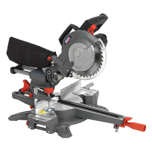 Sealey SMS216 Double Sliding Compound Mitre Saw 216mm 240V