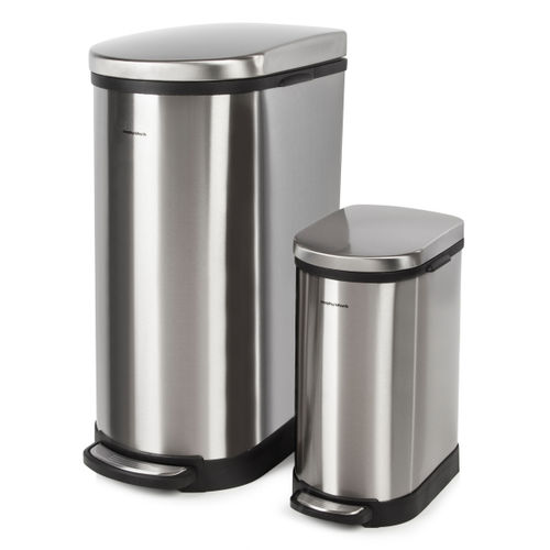 Morphy Richards 977101 Pro 40 Litre and 10 Litre Rectangular Pedal Bins