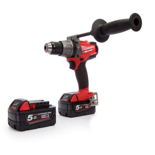 Milwaukee M18 Fuel FPD-502X Combi Drill (2 x 5.0Ah Batteries)