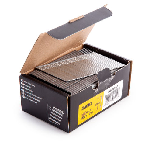 Dewalt DNBA1650-GZ 16GA Brad Finish Nail 20 Deg Galvanised 50mm (Pack of 2500)