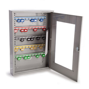Sterling KC50HD Grey Key Cabinet With Clear Perspex Window - 50 Hooks