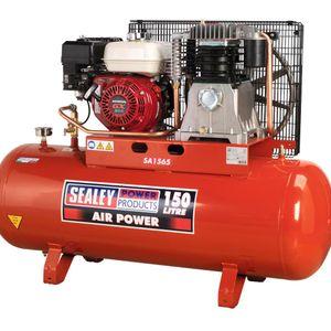 Sealey SA1565 Compressor 150ltr Belt Drive Petrol Engine 6.5hp