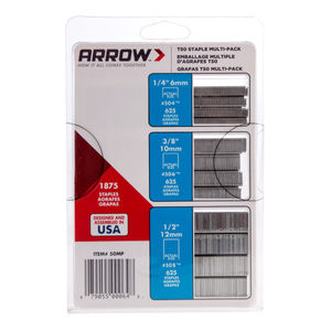 Arrow T50MP Staple Multi Pack (1875 Assorted Staples)