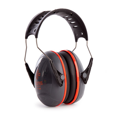 JSP AEB030-0AY-000 Sonis Compact Ear Defenders With Over Moulded Headband - Dark Grey - SNR32