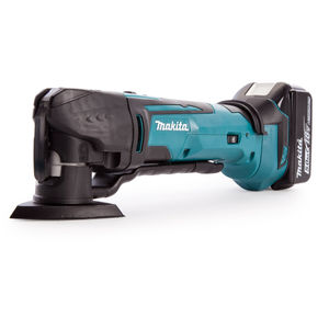 Makita DTM51ZJX7 18V Multi-tool with Accessories in Case + DC18RD Twin Charger (2 x 5.0Ah Batteries)