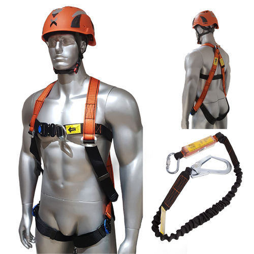 Aresta Scaffolder Kit 2 - Double Point Harness, Elasticated Webbing Lanyard
