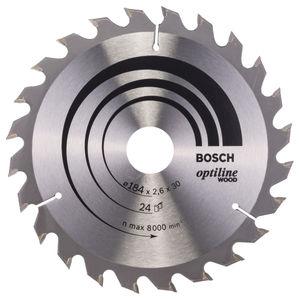 Bosch 2608640610 Optiline Circular Saw Blade for Wood (184 x 30mm) - 24 Teeth