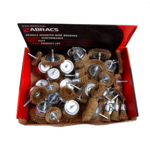 Abracs ABWBSMDISP 40pc Spindle Mounted Wire Brushes