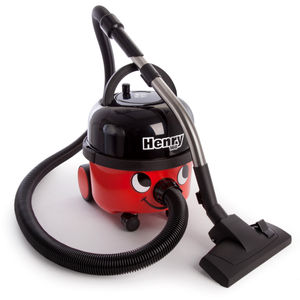 Numatic Henry HVR160 Compact Bagged Cylinder Vacuum Cleaner in Red / Black
