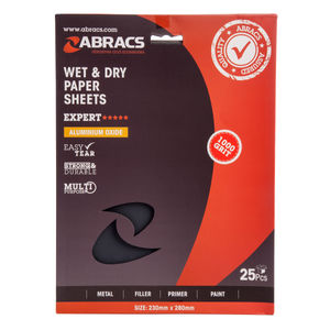 Abracs ABWD1000 Wet & Dry Paper 1000 Grit (Pack 25)