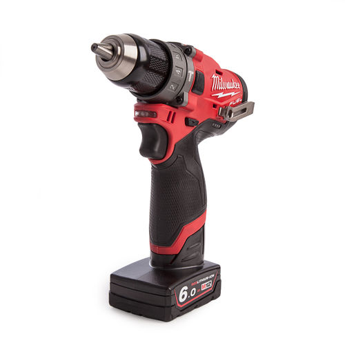 Milwaukee M12FPD-602X 12V Fuel Percussion Drill with Charger (2 x 6.0Ah Batteries)