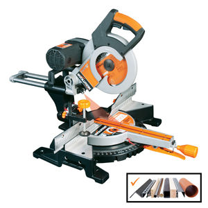 Evolution RAGE3-DB TCT Multipurpose Double Bevel Sliding Mitre Saw 255mm / 10 Inch