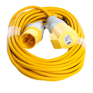 Defender E85111 Extension Lead 16a 1.5mm 14 Metres Yellow 110V