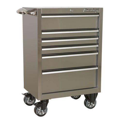 Sealey PTB67506SS Rollcab 6 Drawer 675mm Stainless Steel Heavy-Duty