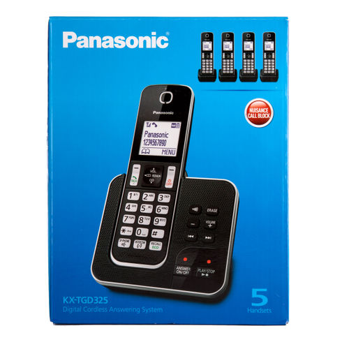 Panasonic KX-TGD325 Digital Cordless Answering System 5 Handsets