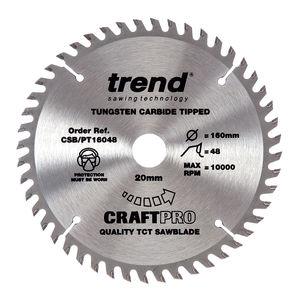 Trend CSB/PT16048 CraftPro Saw Blade 160mm x 48 Teeth x 20mm (Festool TS55)