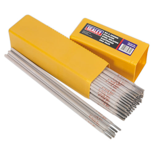 Sealey WESS5040 Welding Electrodes Stainless Steel ∅4 X 350mm 5kg Pack