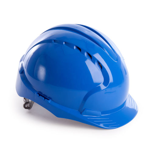 JSP AJF160-000-500 EVO3 Safety Helmet with Slip Ratchet - Vented - Blue