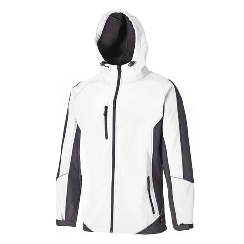 Dickies JW7010 Two Tone Soft Shell Jacket (White/Grey) - XL