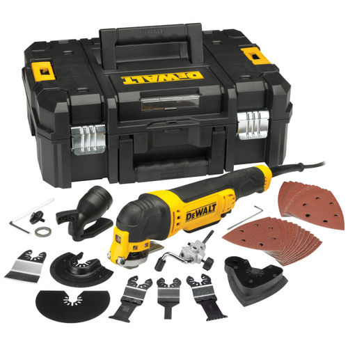 Dewalt DWE315KT Oscillating Multi-Tool with Quick Change Tool Release in TStak Case with 37 Accessories 110V