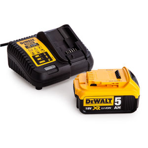 Dewalt DCB115 Battery Charger + DCB184 18V 5.0Ah Battery