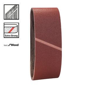 Bosch 2608606078 Mixed Grit Sanding Belts 75x533mm (3 Pack)