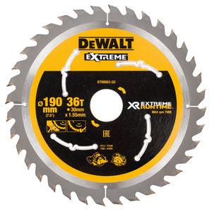 Toolstop circular saw blades from bosch makita dewalt dewalt dt99563 xr extreme runtime circular saw blade 190mm x 30mm x 36t greentooth Images